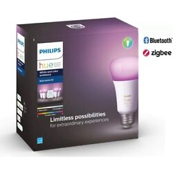Kyпить PHILIPS  Hue White and Color Ambiance A19 LED Starter Kit - Multicolor на еВаy.соm