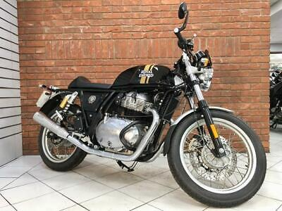 2020/20 Royal Enfield Continental GT 650 Twin With 24 Miles Finished In Black
