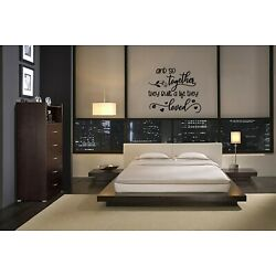 AND SO TOGETHER THEY BUILT A LIFE THEY LOVED VINYL WALL DECAL STICKER BEDROOM
