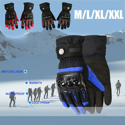 Motorcycle Full Finger Gloves Faux Leather Touch Screen Racing Motorbike Driving