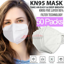 Kyпить KN95 Protective 5 Layers Face Mask [50 PACK] BFE 95% PM2.5 Disposable Respirator на еВаy.соm