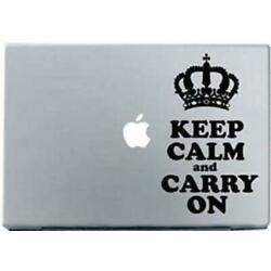 Keep Calm and Carry On- Macbook Decal