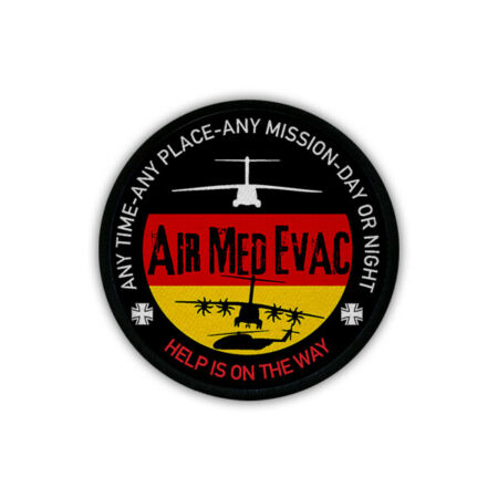 img-Patch Airmedevac Air Rescue Transall A400M Ch52 Help On The Way Sew-On #18183