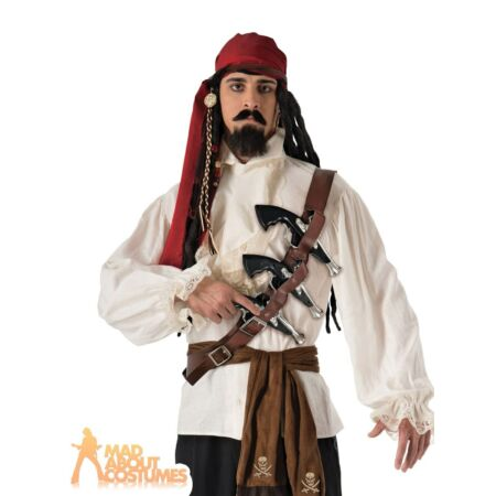 img-Pirate Gun Belt Holster Jack Sparrow World Book Day Fancy Dress Outfit Accessory