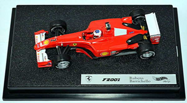 AllemagneFerrari F2001 #2 Rubens Barrichello Rouge 1:43 Hot Wheels 50214