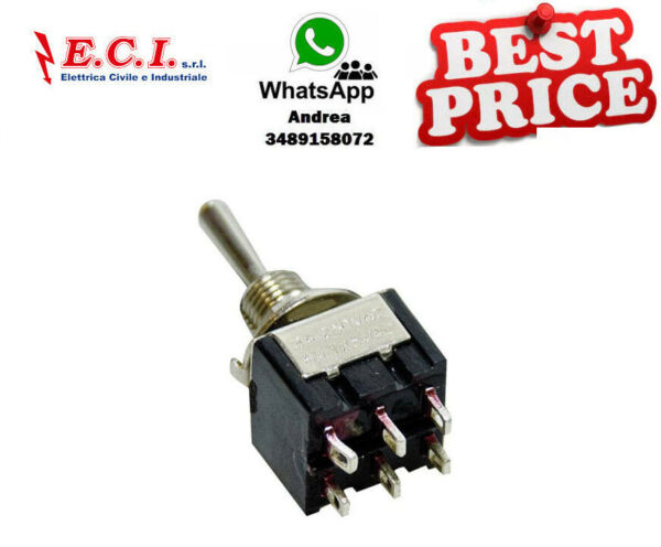 Italie34.26124 Double Inverseur  6A 125VAC (On) -off- (On) Tcs