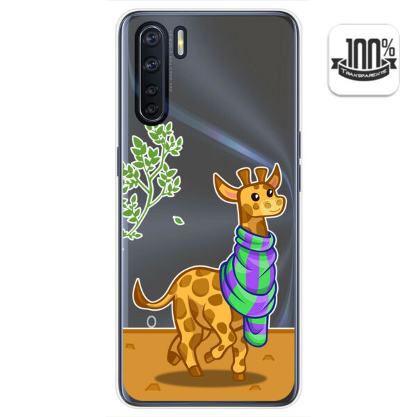 EspagneCover Gel Transparent for Oppo A91  Giraffe Drawings