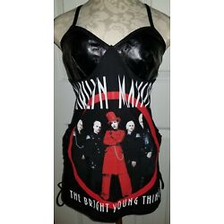 DIY Custom Marilyn Manson Vintage 03 Tour Upcycled Reconstructed S M Tunic Shirt