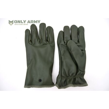 img-NATO Military Issue Leather Gloves Olive Green Combat Cold Weather Lined Gloves