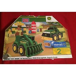 Kyпить Mega Bloks John Deere Lil' Harvest Farm 2 Vehicle Set #80826 - NIB на еВаy.соm