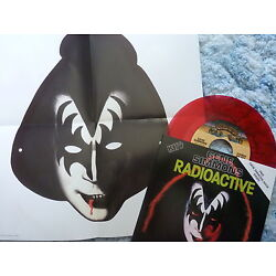 GENE SIMMONS 45 RPM 7'' VINYL - Radioactive RED W/COLLECTORS SLEEVE & MASK