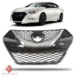 Kyпить Fits Nissan Maxima 2016-2018 Front Upper Grille Chrome ABS Factory  на еВаy.соm