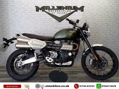 2019 TRIUMPH SCRAMBLER 1200 XC FOR SALE WITH RAD GUARD AND SUMP PLATE.