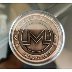 Kyпить 2016 Cryptonic Monero Copper Plated Brass Coin - LAST ONE REDUCED!!! на еВаy.соm