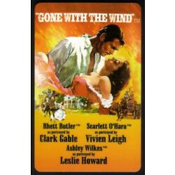 Kyпить 10u 'Gone With The Wind' and 'Casablanca' Movies: Matched # Set of 2 Phone Card на еВаy.соm