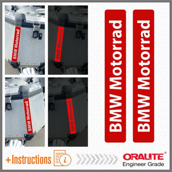 Italie2x BMW Motorcycle Red  Stickers Pegatina R 1200 1150 F800 F650 F700 GS
