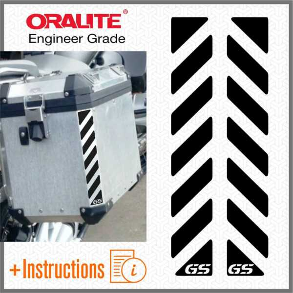 Italie2x GS Black  Bandes For Touratech R 1200 1150 F 800 650 700 -feuille