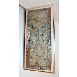 Kyпить antique hand embroidery silk 1800's ornate Qing dynasty needlepoint tapestry / на еВаy.соm