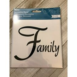 Darice Decorative Decal Brand New 1 Pc Family Decal 6 in x 6 in
