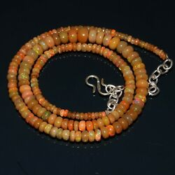 Kyпить Natural Ethiopian Multi-Fire Opal Smooth Rondelle Beads Necklace Gemstone  на еВаy.соm