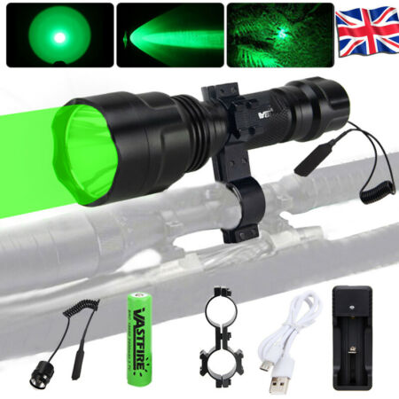 img-Tactical 8000LM LED Flashlight Lamp Hunting Weapon Gun Torch Light Scope Mount