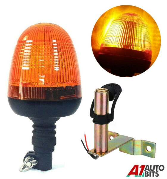 Royaume-UniClignotant Warning LED Ambre Léger Lampe & Support Tracteur  Véhicule #C