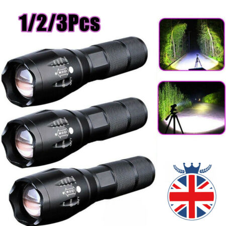 img-Police 90000LM T6 LED Super Bright Zoom Flashlight Powerful Camping Lamp Torch