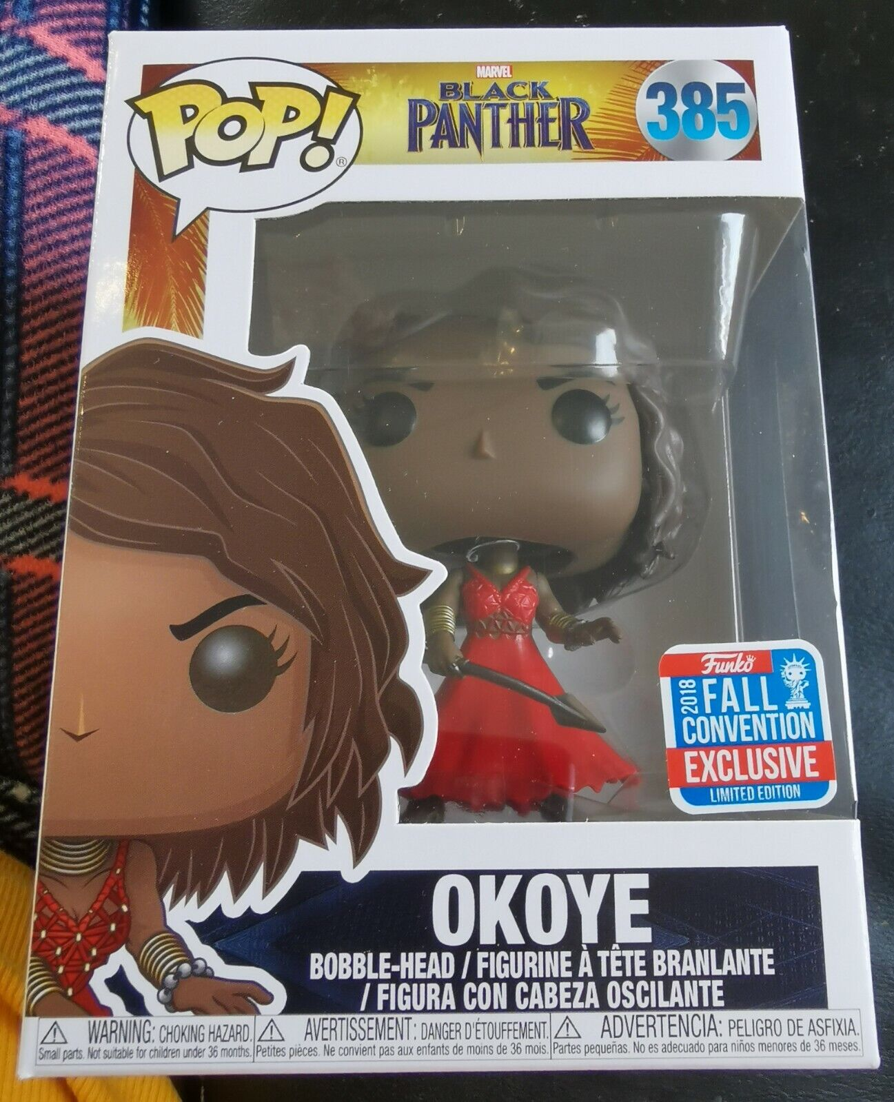 UPC 889698331524 product image for Funko Pop Marvel Black Panther Okoye Wig Nycc Fall Con Exclusive + Protector | upcitemdb.com