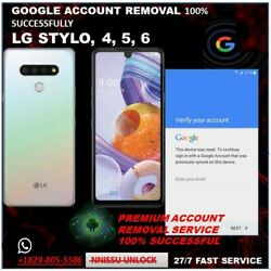 Kyпить REMOTE GOOGLE ACCOUNT REMOVAL/RESET FRP FOR LG STYLO 4, 5, 6 100%  FAST SERVICE  на еВаy.соm