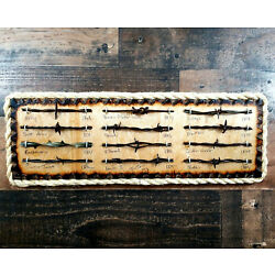 Kyпить Antique Barbed Wire Display Authentic Barbwire Collection  на еВаy.соm