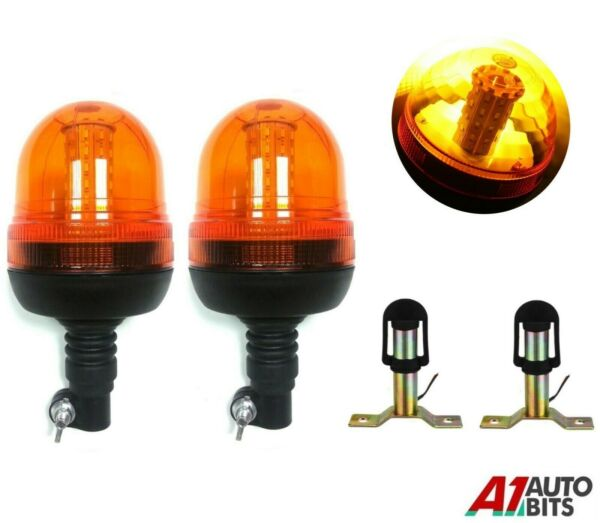 Royaume-Uni2x Clignotant Warning Ambre Phare Feux Support Tracteur  Véhicule #B
