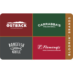 Kyпить $25 Outback, Carrabba's, Bonefish Grill, Fleming's gift certificates  на еВаy.соm