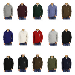 Kyпить Polo Ralph Lauren Mock Neck Pullover Zip Sweat Sweatshirt Sweater - 15 colors - на еВаy.соm