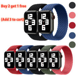 Kyпить Braided Solo Loop Silicone Strap Band For Apple Watch Series 6 SE 5 4 3 2 40/44 на еВаy.соm