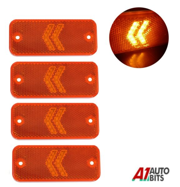 Royaume-Uni4 LED Direction Côté Orange  Feux 12-24V Remorque Bus Camion Châssis