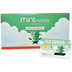 Kyпить Mint Mobile 3-Month 4GB/a month 4G LTE Prepaid SIM Card Kit --Open Item на еВаy.соm