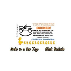 Kyпить Jeep duck tags SET OF 50 Rubber Ducking Jeeps 4 style choices DUCK DUCK JEEP!  на еВаy.соm