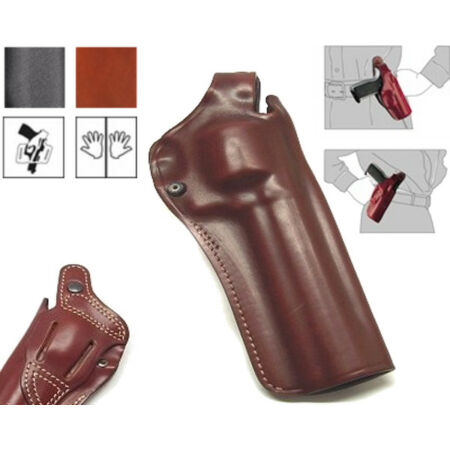 img-Holster Vega Holster Leather & Captive Top T165 For Revolver 6,5 Inches Castle N