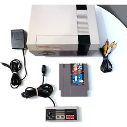 Refurbished Original NES Nintendo System Console + New 72 Pin Authentic & Clean!