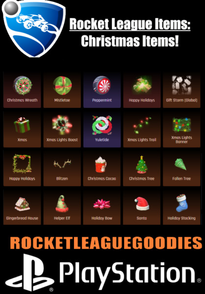 Royaume-UniRocket League Items - PSN/PS4/PS5 - Xmas/Christmas Items!