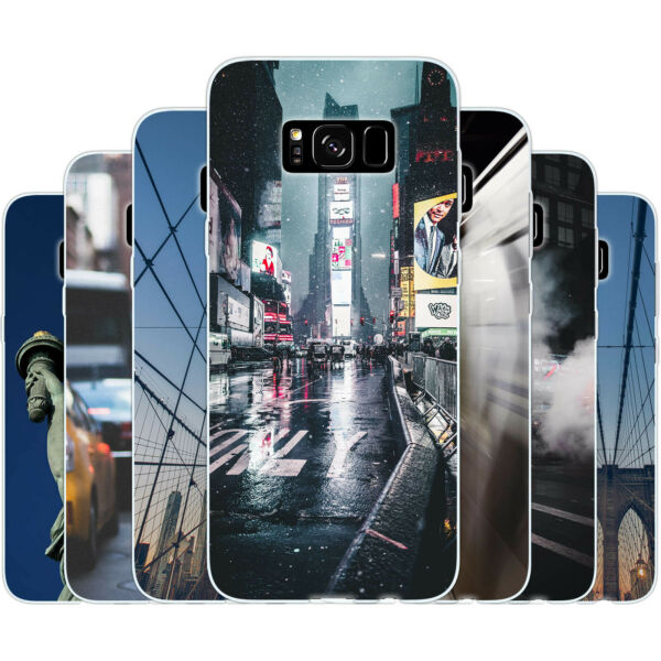 AllemagneDessana New York Ville Lifestyle Etui de Protection en Silicone Portable Samsung