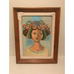 Kyпить Museum Lawrence Hyde Listed Fruit Salad Lady Oil On Board Original Painting  на еВаy.соm