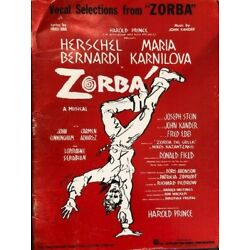 Kyпить Zorba Vocal Selections, Kander and Ebb Broadway Musical 1968 на еВаy.соm