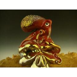 Kyпить Glass 'Octopus on a Skull' Figurine Sculpture by Eli Mazet Ocean Art Ready to Sh на еВаy.соm