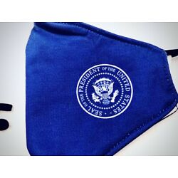 Kyпить FACE MASK REUSABLE/WASHABLE, WHITE HOUSE PRESIDENTIAL SEAL, SET OF THREE MASKS на еВаy.соm