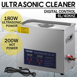 Kyпить Commercial 6L Ultrasonic Cleaner Industry Heated Heater w/Timer Jewelry Glasses на еВаy.соm