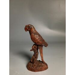 Kyпить Collectible Natural Boxwood Figurine Carved Parrot Wood Statue AMD011 на еВаy.соm