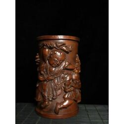Kyпить Collectible Natural Boxwood Figurine Carved Brush Pot Wood Statue AMD013 на еВаy.соm