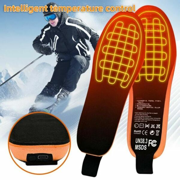 United Kingdom Electric Heated Insoles With Remote Control Winter Outdoor Warm Sock Pad Mat