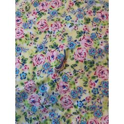 Kyпить Yellow and Pink Floral Flannel Blanket 41 1/2 x 39 на еВаy.соm